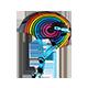 Dirt Lid Youth Helmet Rainbow Multi S (47-48cm) - radschlag - Fahrradladen Ladengeschäft und Online Shop in Chemnitz - Fahrräder und Fahrradzubehör